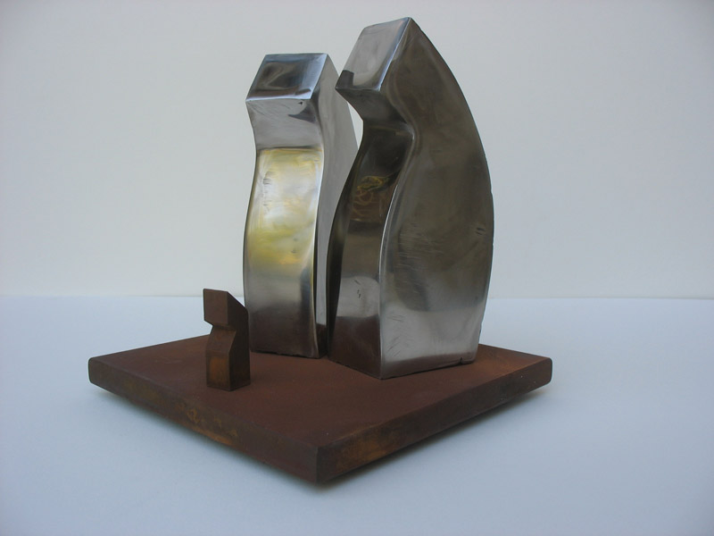 Family, Stainless and Rusted Steel