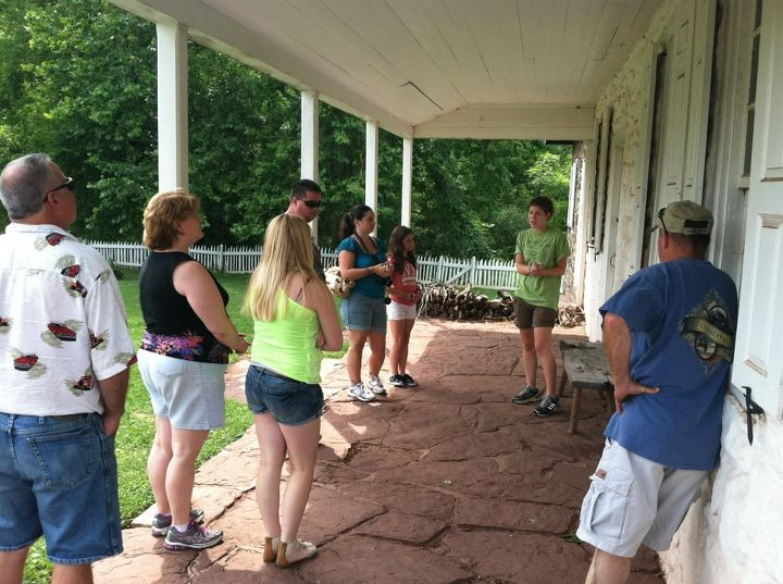 The tour of the Boone house begins on the front porch. Here we interpret the time period, as well as give background information about the families who lived in the house.
