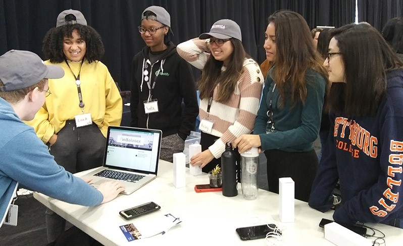 Student competitors at Technica2019 conference