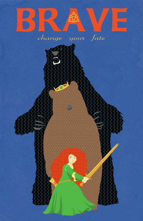 A poster of the movie Brave