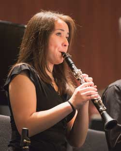 Clarinet performer in Wind Symphony