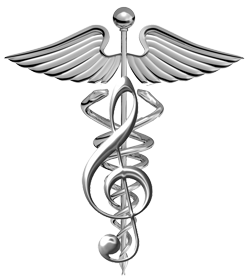 Caduceus with treble clef
