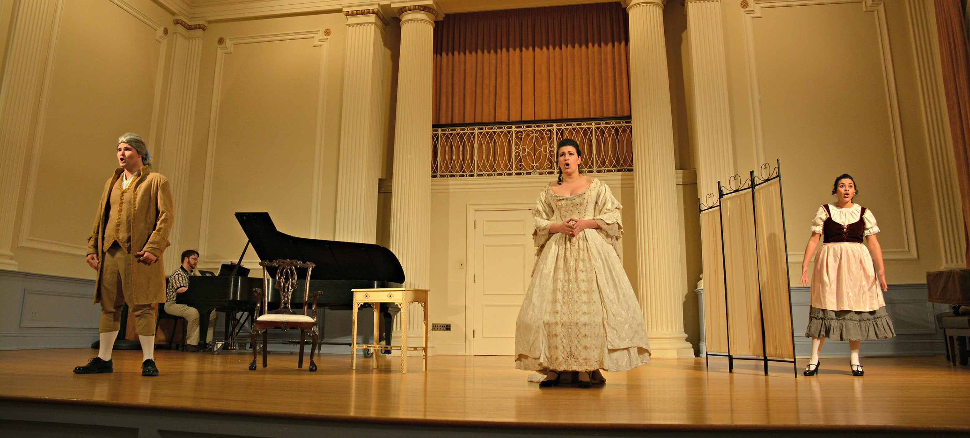 Anna Lipowitz performing opera in period attire