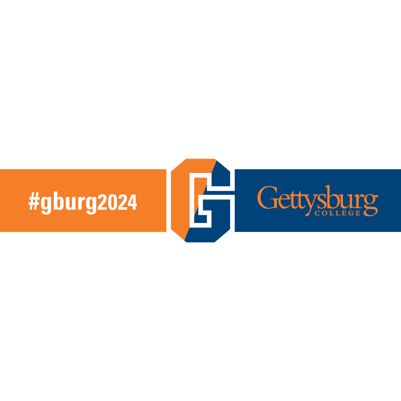 Gettysburg College facebook photo frame with white outline and transparent background