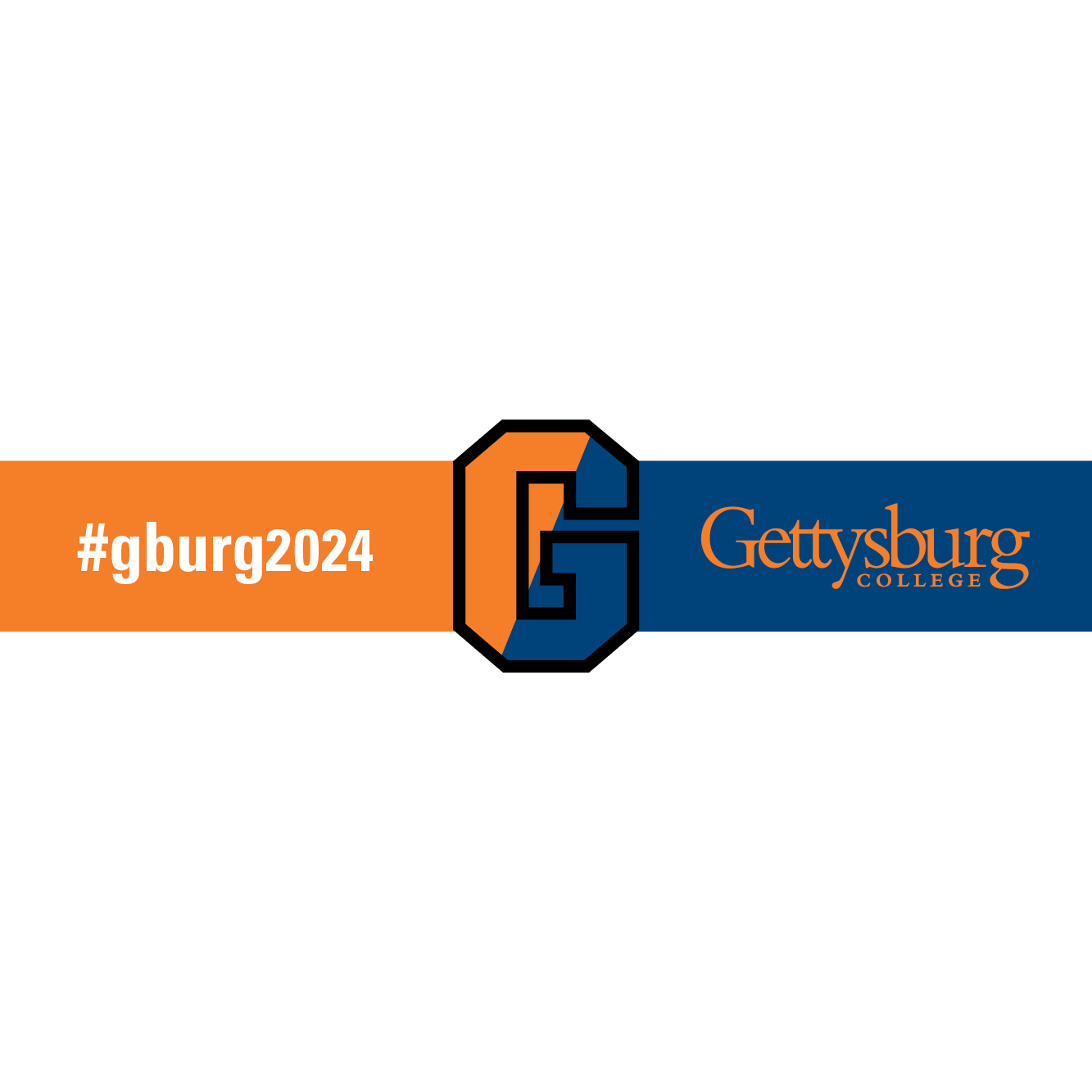 Gettysburg College facebook photo frame with black outline and transparent background