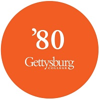 Gettysburg College Class of '80 button