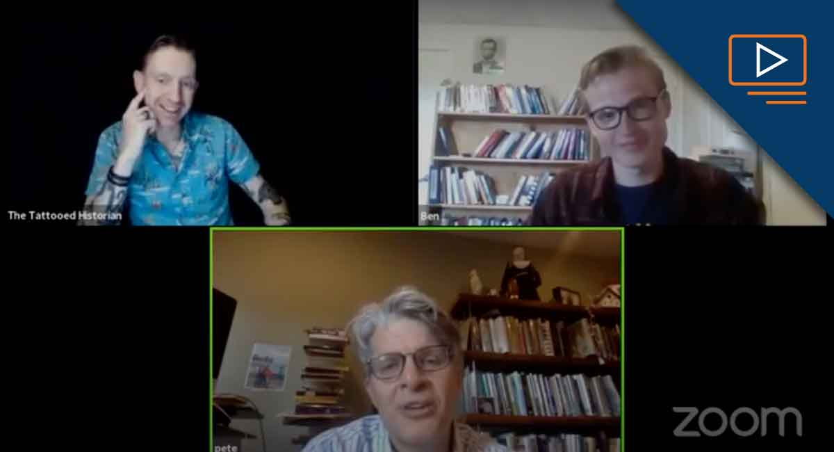 Pete Carmichael and his guests in a Zoom chat