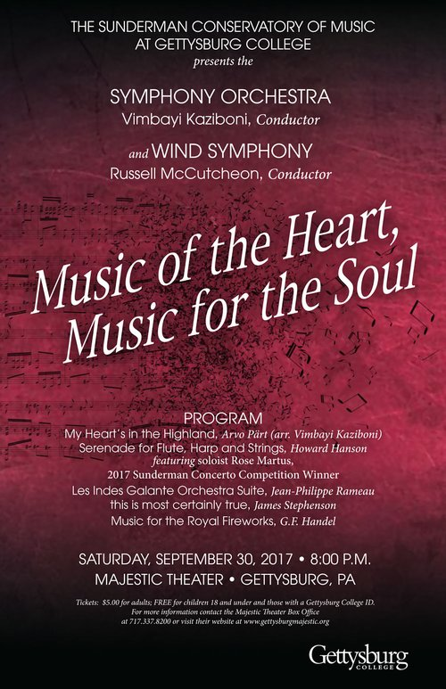 Music of the Heart, Music for the Soul: Symphony Orchestra and Wind Symphony Concert