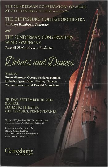 Debuts and Dances: Symphony Orchestra and Wind Symphony Concert