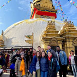 Students travel to Nepal on an immersion trip with Prof. Megan Sijapati