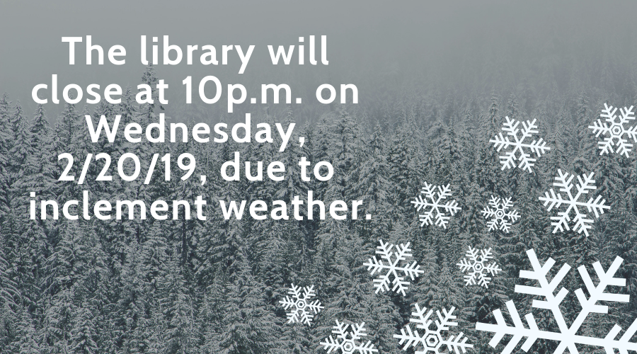 The library will close at 10p.m.