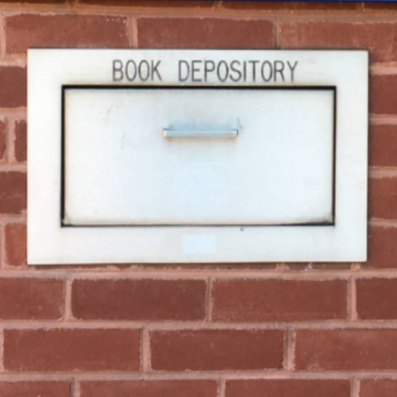 Book depository slot outside Musselman Library