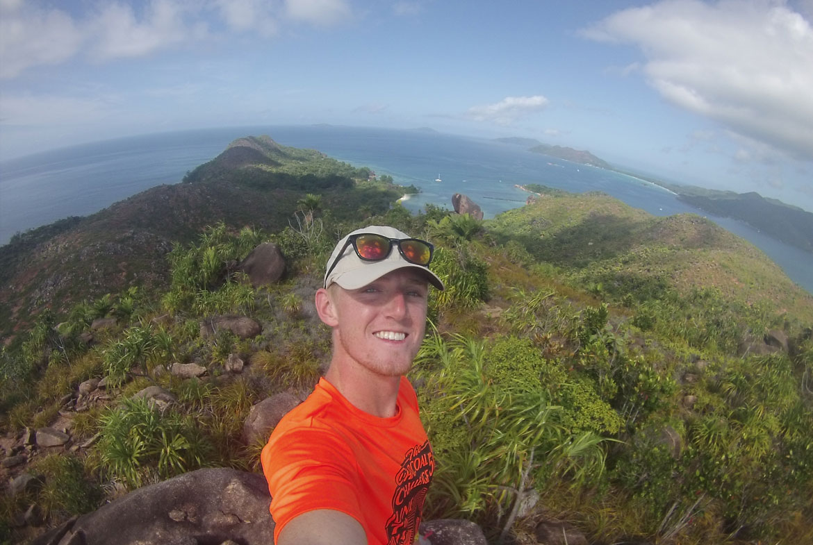 Cody Kiefer '17 on his internship in the Seychelles