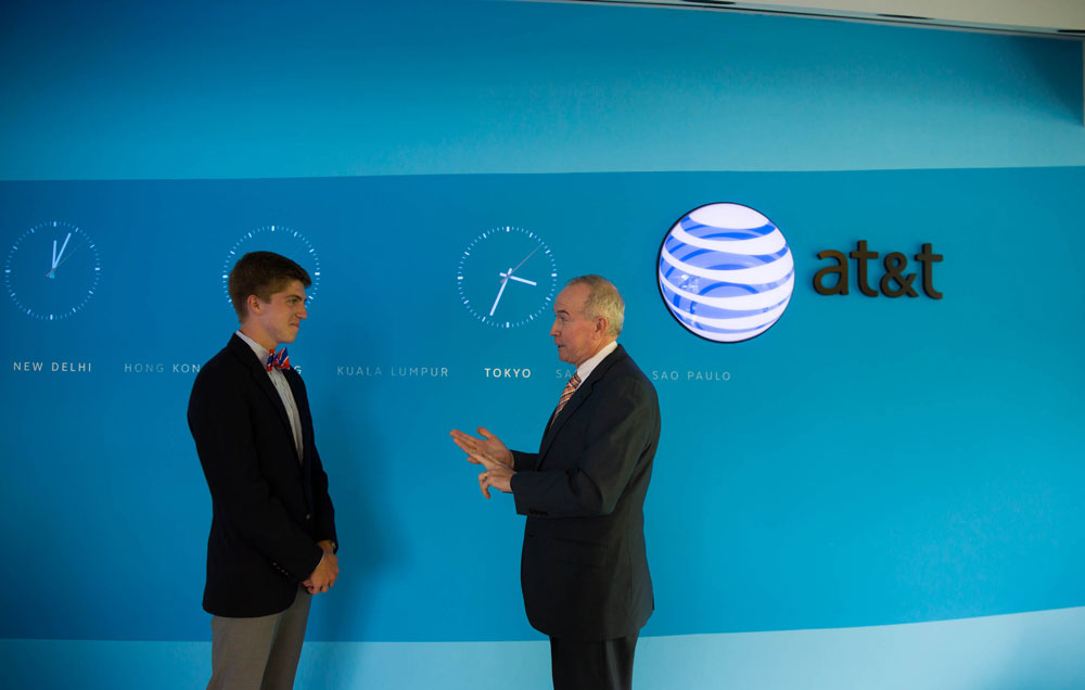 Student at an AT&T externship program