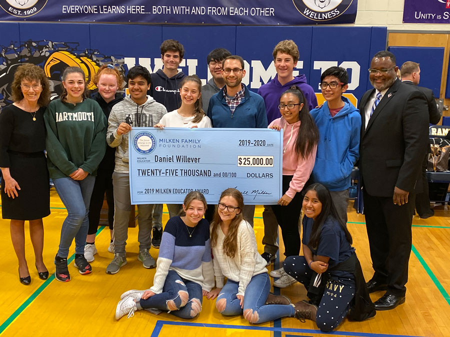 Willever receiving $25,000 Milken Educator Award