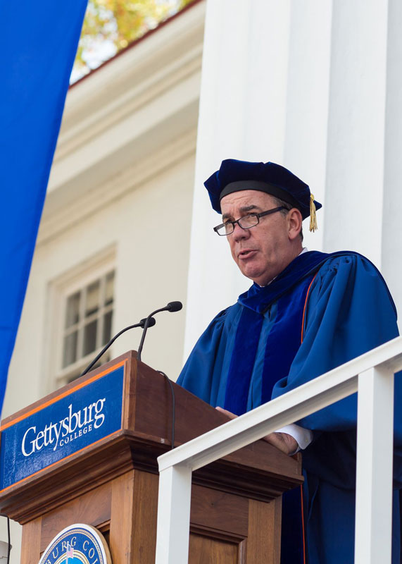 David Brennan '75 P'00 delivers remarks at the Installation Ceremony for the Inauguration of President Bob Iuliano