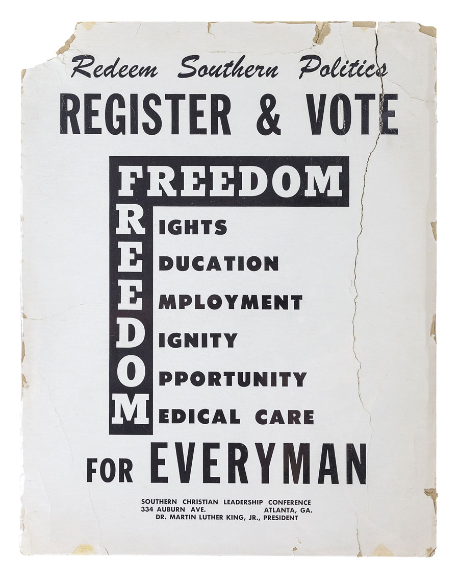 Poster promoting freedom and equal rights for all people