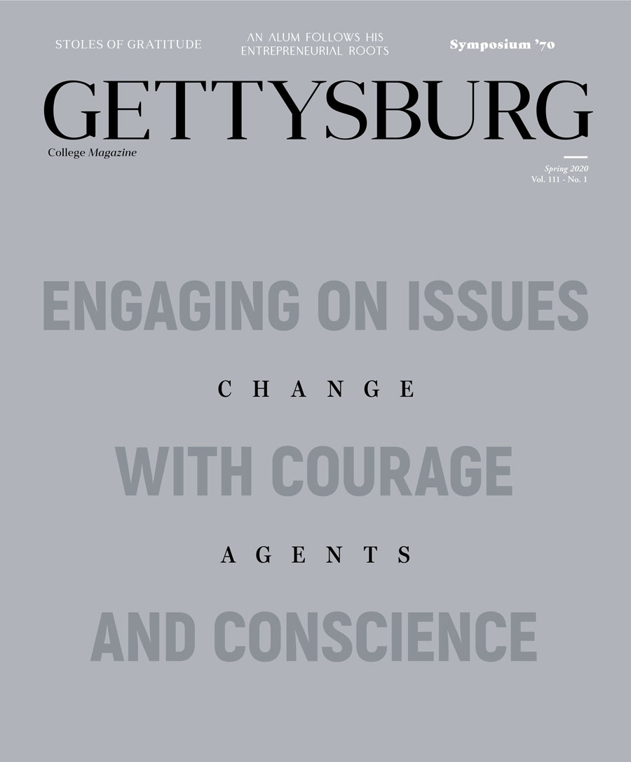 Spring 2020 issue of Gettysburg College Magazine