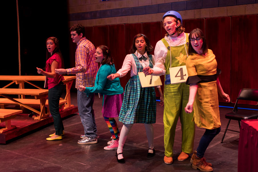 Students performing in the 25th Annual Putnam County Spelling Bee
