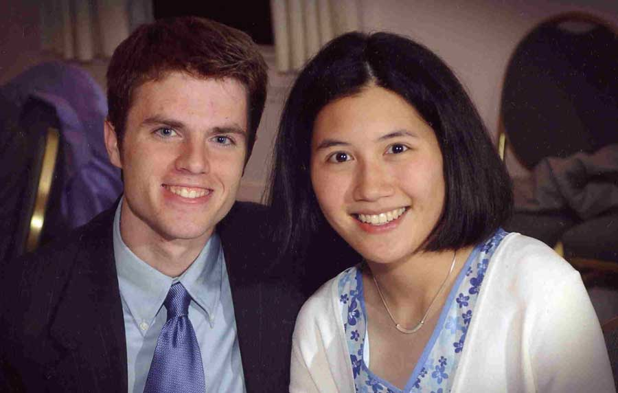 Headshot of Tina Tao and Jeff Maynes