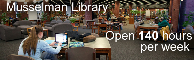 Library open 140 hours
