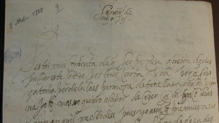 One of the letters written between Catalina Micaela and her husband Carlo Emanuele.