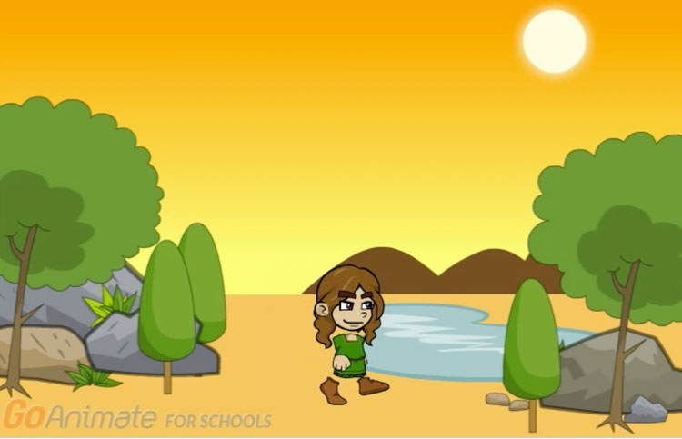 A scene from Fernandes' GoAnimate project