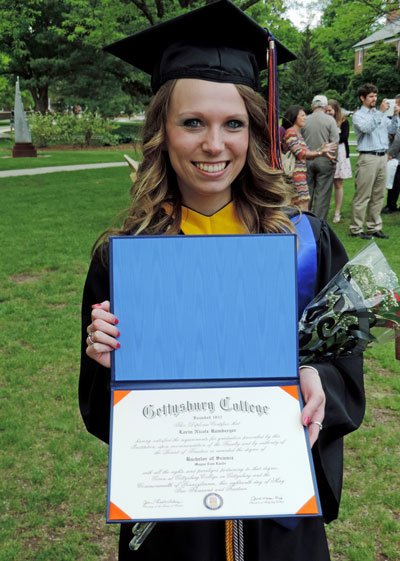 Lorin at Gettysburg College's Commencement