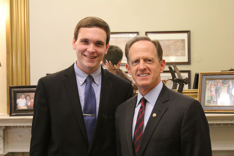 Kerr with Sen. Toomey
