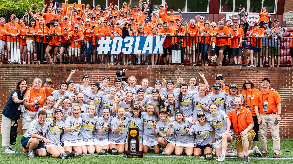 Women's lacrosse win back-to-back championships.