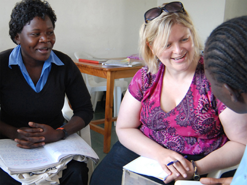 Professor Amy Dailey in Kenya