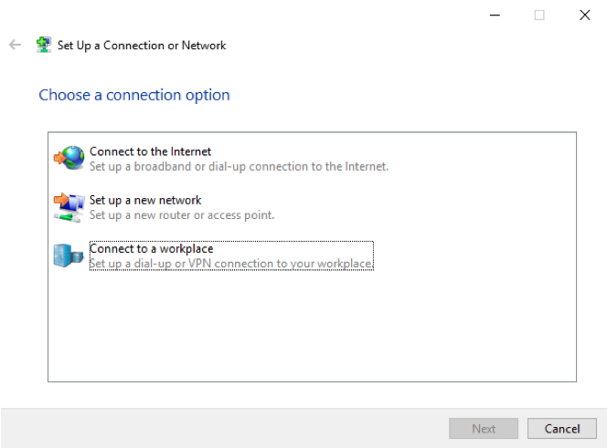 connect to vpn win3
