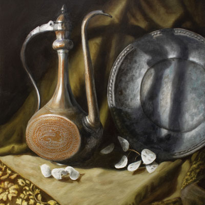 Painting of Turkish luxury items