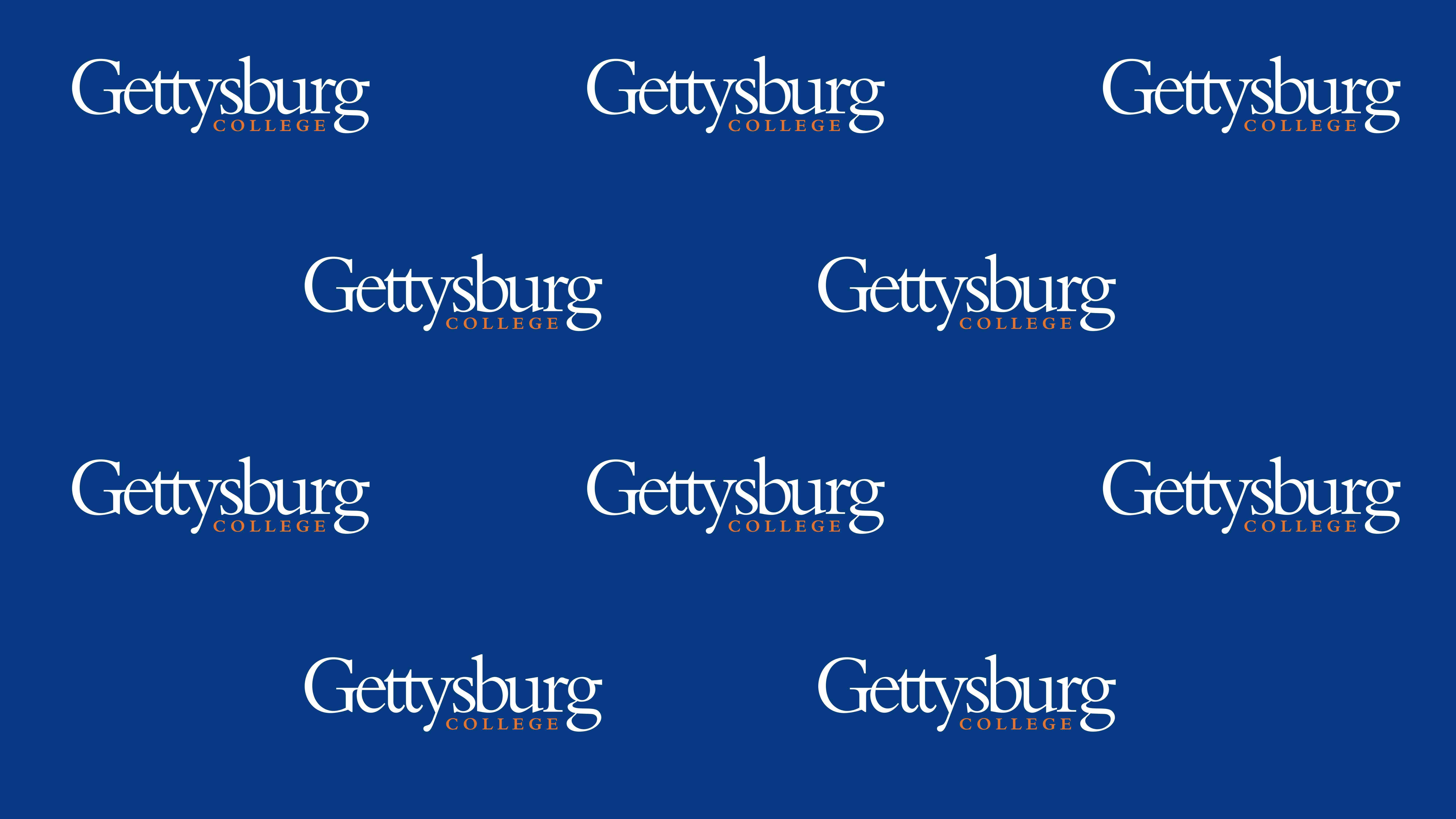 Gettysburg College branded zoom background